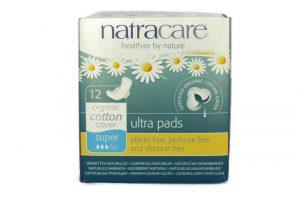 Natracare szuper szárnyas egészségügyi betét 12 db